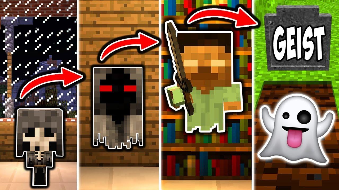 GEISTER LEBENSZYLUS in Minecraft - Vom SKELETT zum GEIST - YouTube