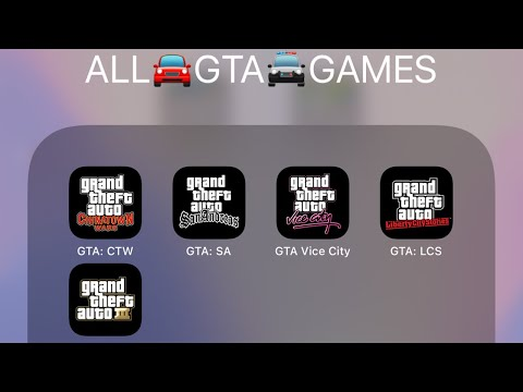 Grand Theft Auto,GTA Chinatown Wars,GTA San Andreas,Vice City,Liberty City Stories,GTA III