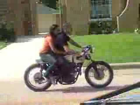 cafe racer with rider - youtube