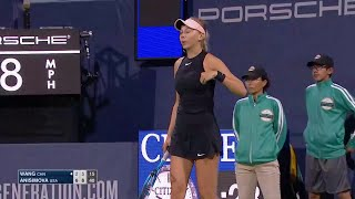 Amanda Anisimova Wins R1 At 2018 US Open Series Mubadala Silicon Valley Classic