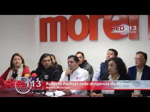 VIDEO Ante destacados logros electorales, Roberto Pantoja cede dirigencia de Morena