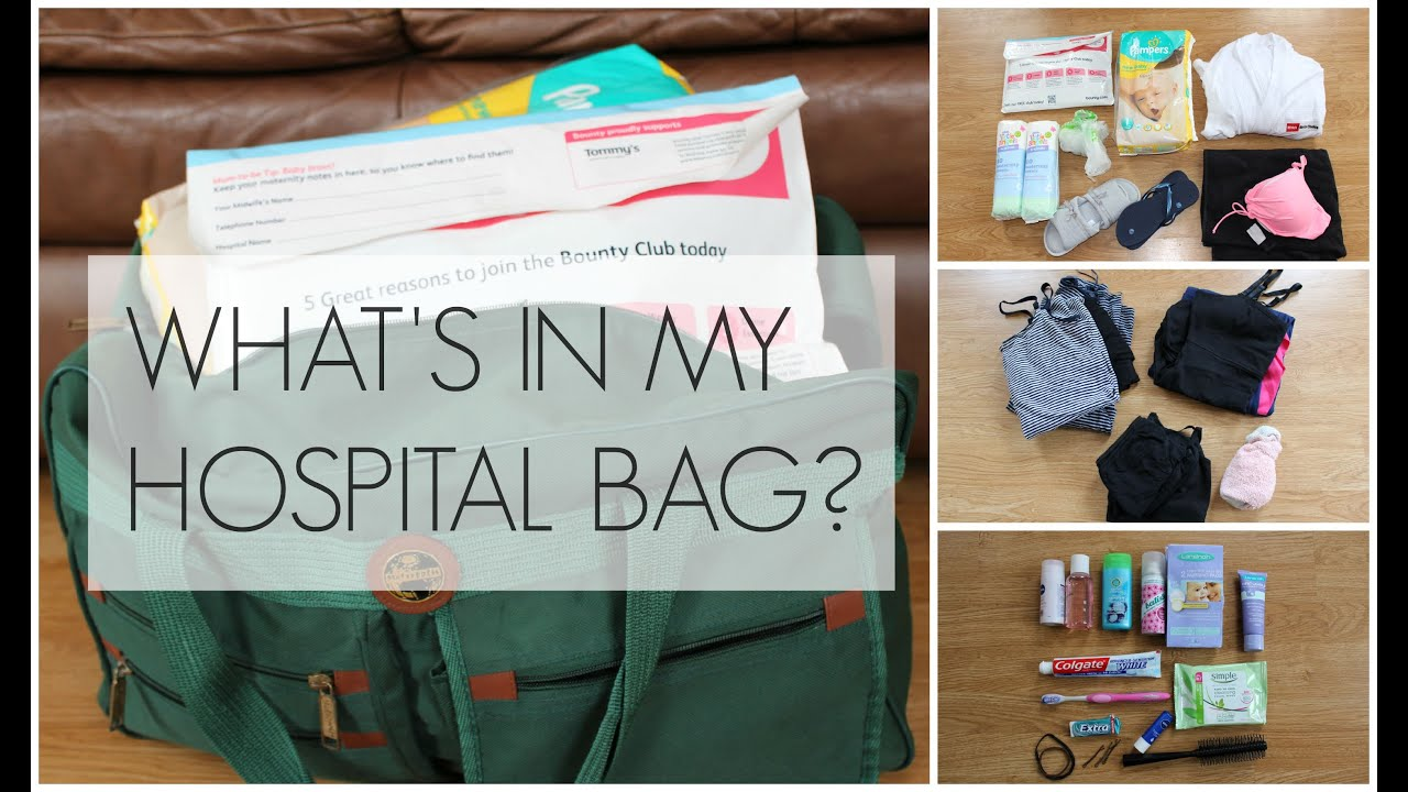 WHAT'S IN MY HOSPITAL BAG? (UK)