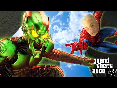 GTA IV - GREEN GOBLIN VS SPIDERABUELA!! - La batalla definitiva!! - NexxuzHD