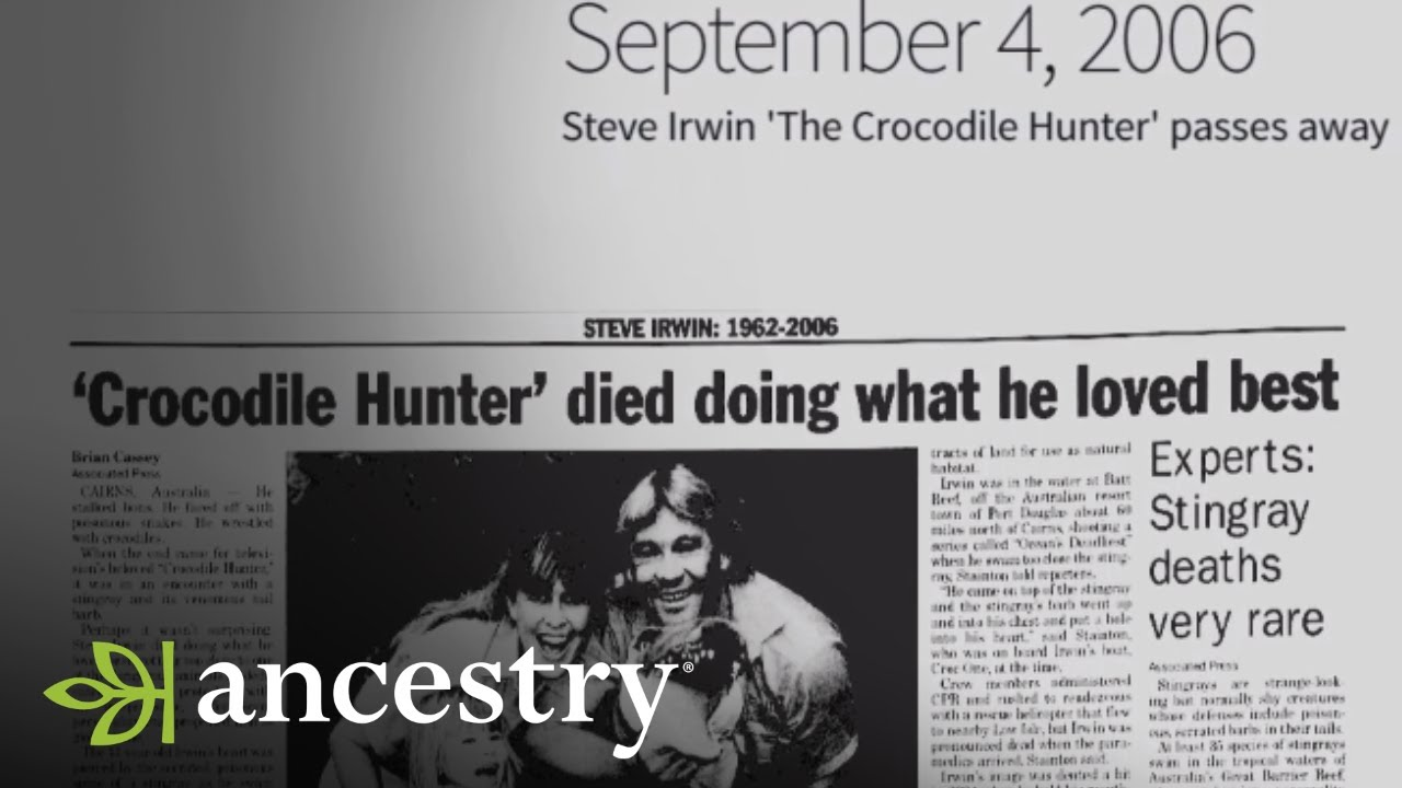 Steve Irwin Passes Away This Week In History Ancestry Youtube