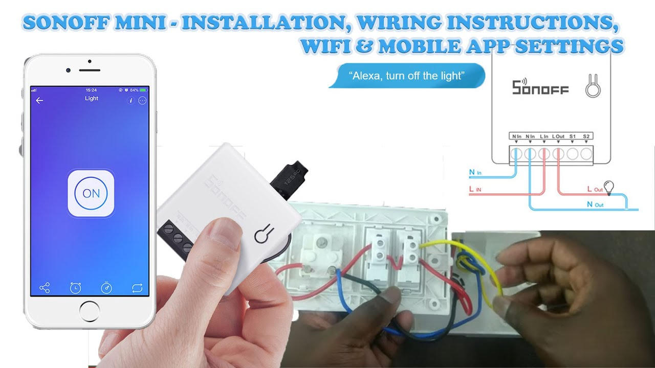 Sonoff Mini Wiring Installation Use Old Switches Make