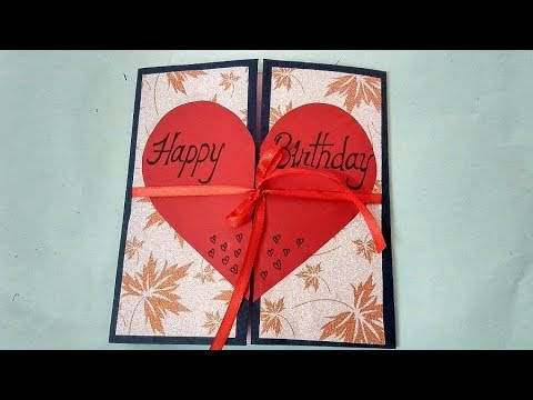 A Beautiful Birthday Card Idea For Boyfriend Complete Tutorial