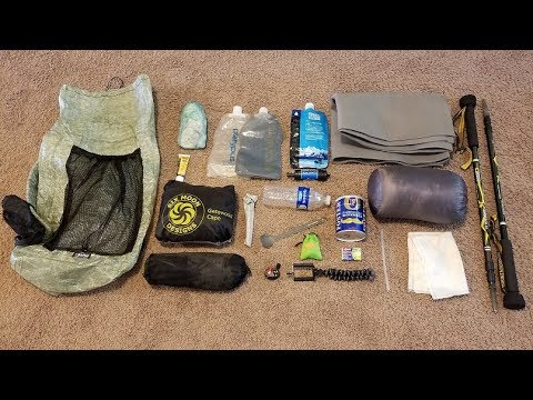 Sub 5 Pound - Super Ultralight Summer Backpacking Gearlist
