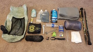 Sub 5 Pound   Super Ultralight Summer Backpacking Gearlist