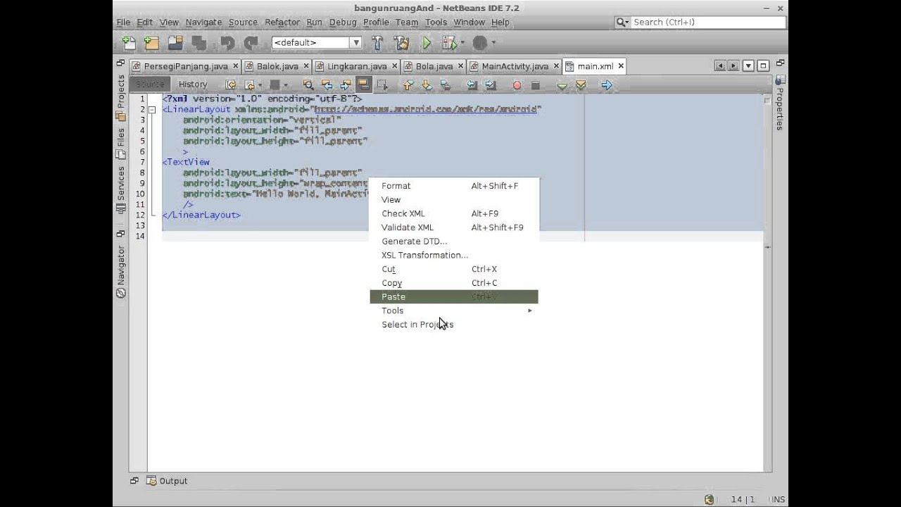 Simple Android App in NetBeans