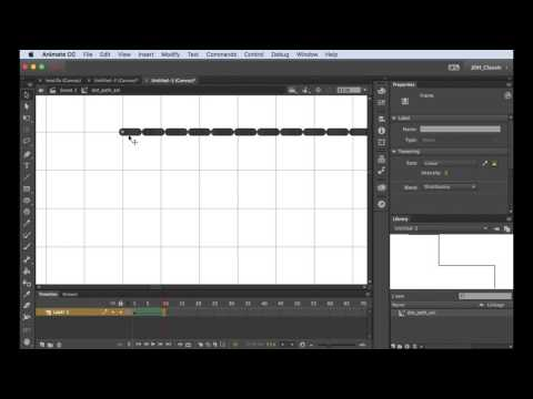 How To Animate Dashed Line In Animate CC