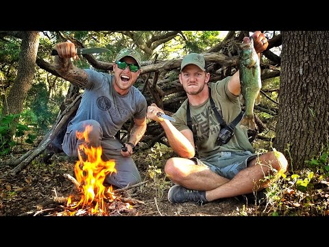 Wilderness Survival Challenge with Lunkers!!!