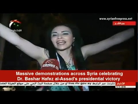 Dr. Bashar Hafez al-Assad wins post of President of Syria with sweeping majority of votes at 88.7%