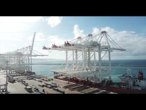Final 3 Ship-to-Shore cranes arrive at APM Terminals MedPort Tangier