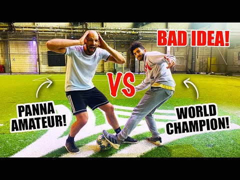 I CHALLENGED THE PANNA WORLD CHAMPION TO A PANNA MATCH!