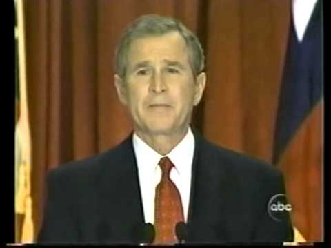 2000 Election December 13 George Bush speech in Austin, TX