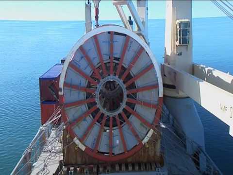 SAL Offshore: MV Annemieke, Transferring Cable Reels