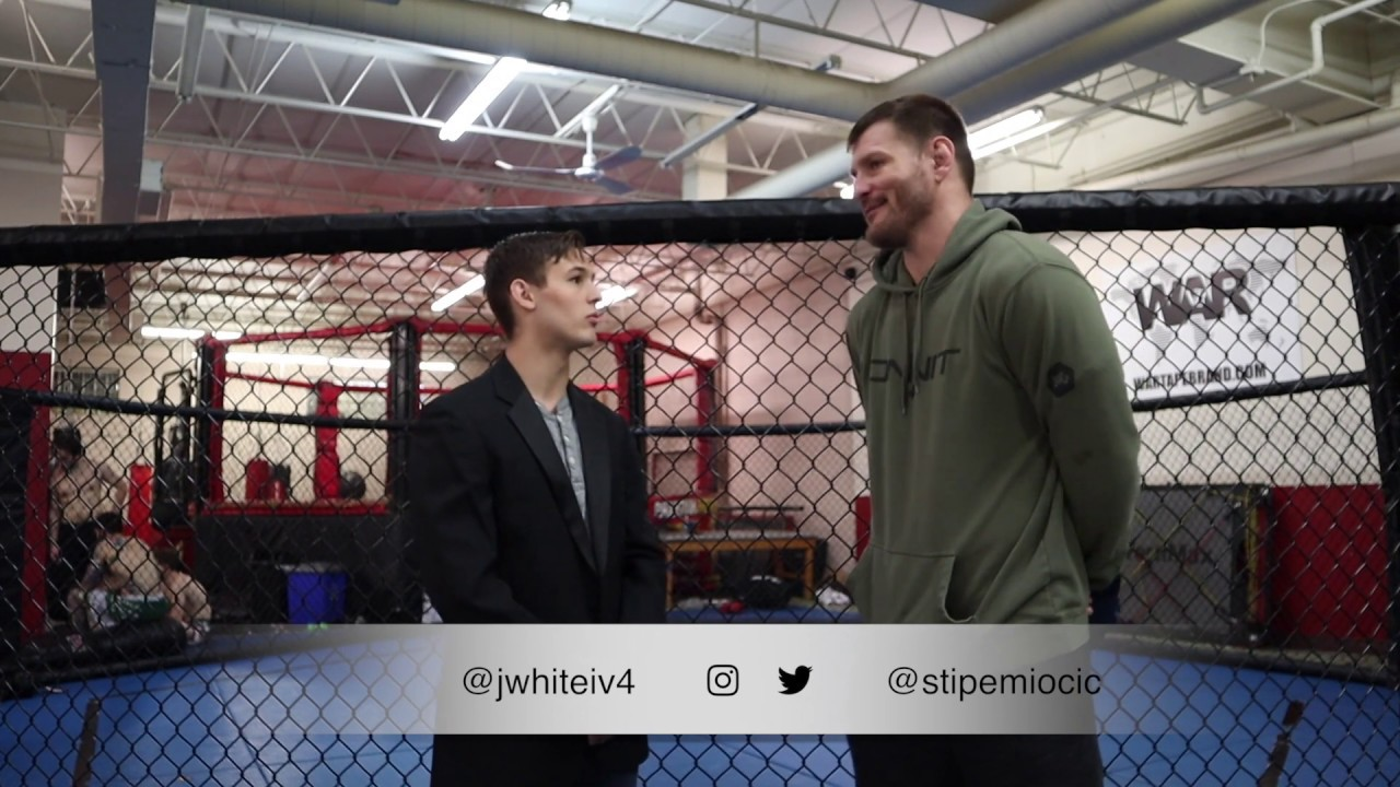f2793988f14 Former UFC Heavyweight Champion Stipe Miocic With James White IV ...