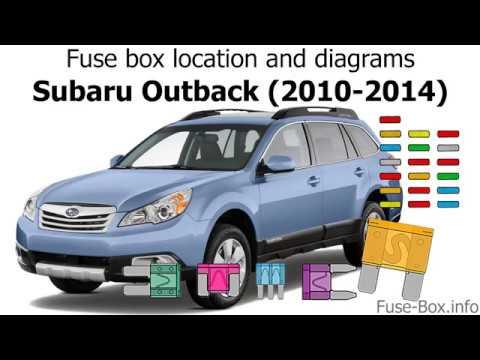 Fuse box location and diagrams Subaru Outback (2010-2014) - YouTube