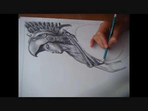 Dibujo De Azteca Wmv Youtube