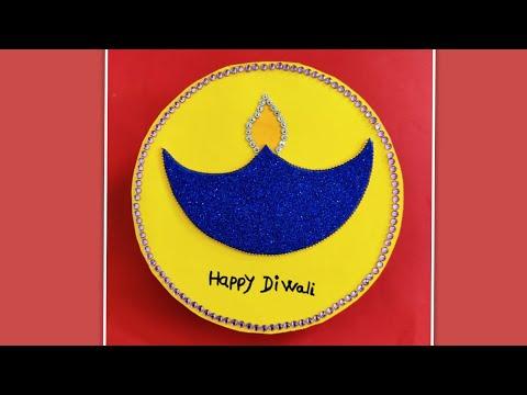 Diwali card / handmade Diwali greeting card /diy Diwali card