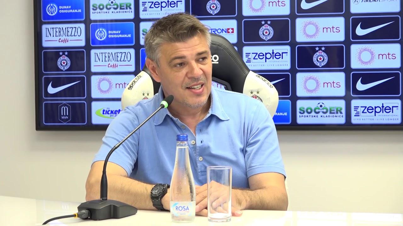 Konferencija za medije šefa stručnog štaba FK Partizan