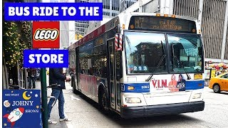 Johny Rides The MTA Bus To The Lego Store In Rockefeller Center