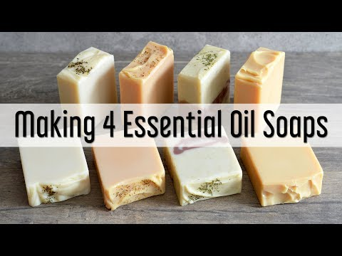 Making 4 Essential Oil Soaps  | MO River Soap