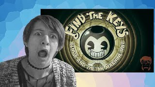 I'M CREEPED OUT!! | FIND THE KEYS! Animated Bendy and the Ink Machine Rap Reaction