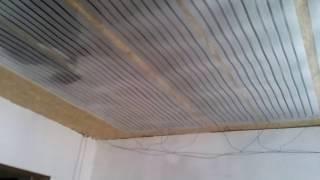 Плэн в мороз -30 сможет? ч2.каркасный дом  (инфракрасное отопление,потолочное отопление )Плэн отзывы