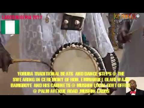 Traditional beats and dance at MUSHIN local govt sect., Lagos Yoruba culture established.... Kuruker