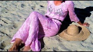 Как связать ажурное платье спицами. Вязаное ажурное платье спицами. Вязание спицами: ажурные платья