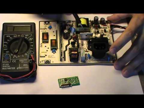 Ремонт монитора SyncMaster E1920 часть 1. Как осуществить диагностику и отремонтировать монитор.