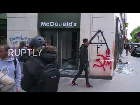France: Paris May Day rally marred by teargas, vandalism