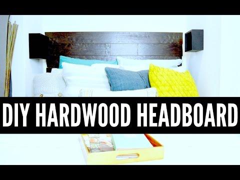 DIY Hardwood Headboard