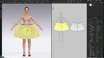(CLO) (클로) 초급09_아코디언플리츠스커트_1_배치&재봉. CLO Basic 09_ Accordion pleated skirt