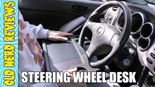 Mobile Steering Wheel Car Desk REVIEW   Mobile Office Desk