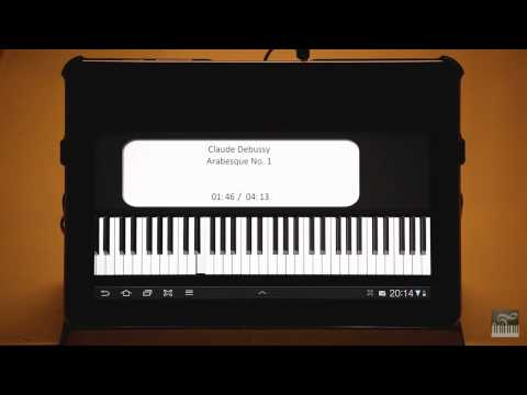 Claude Debussy's Arabesque No. 1 on Virtual Piano Trainer