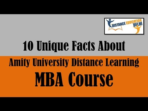 10 unique facts About Amity university Online/distance MBA Course