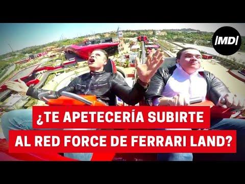 ¿Te apetecería subirte al Red Force de Ferrari Land?
