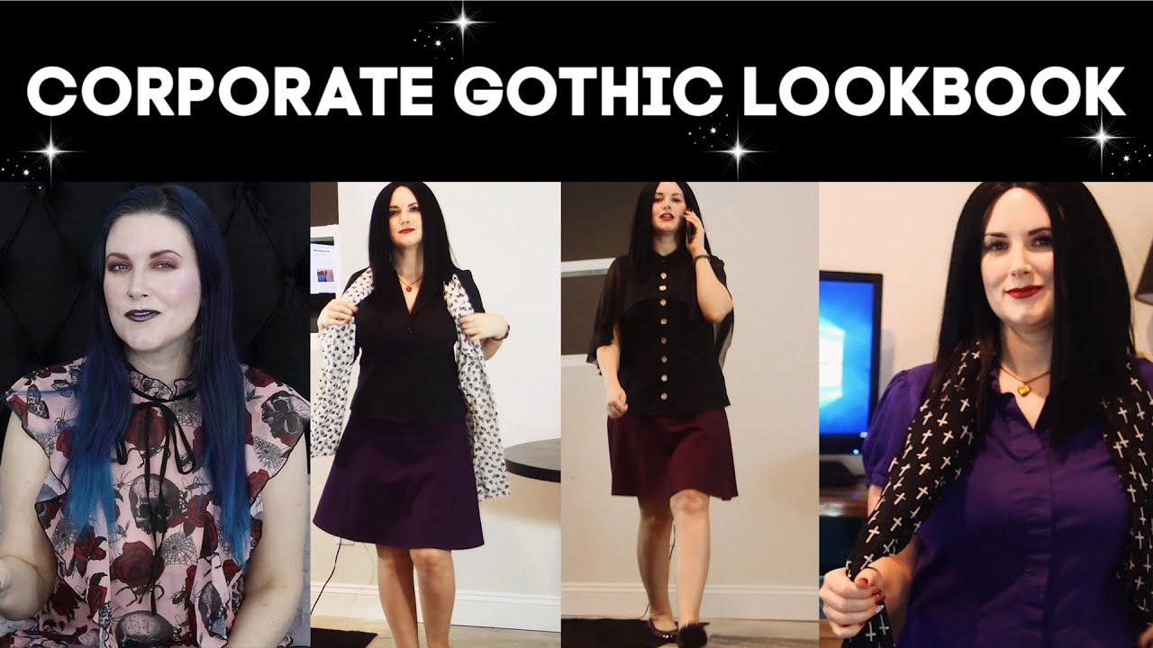[VIDEO] - Work Wear Gothic Clothing: Office Professional Gothic Inspiration Lookbook 8