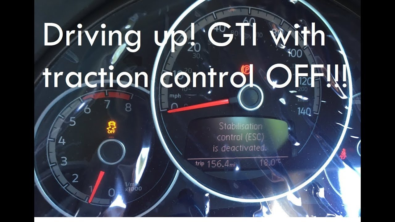 DRIVING UP! GTI WITH TRACTION CONTROL OFF!!