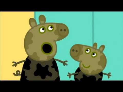 Peppa pig en espa ol peppa y george juegan en los for En youtube peppa pig