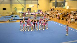 Star-Mites Cometz Cheerleading End of Year Display 2011