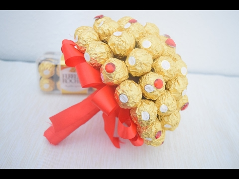 diy ferrero rocher blumenstrau valentinstag geschenk. Black Bedroom Furniture Sets. Home Design Ideas