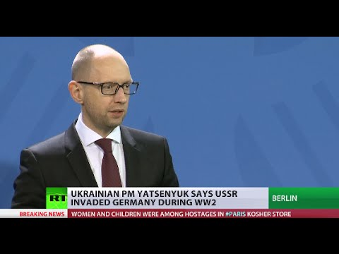 Rewriting history: Ukrainian PM Yatsenyuk says USSR invaded Germany during WWII