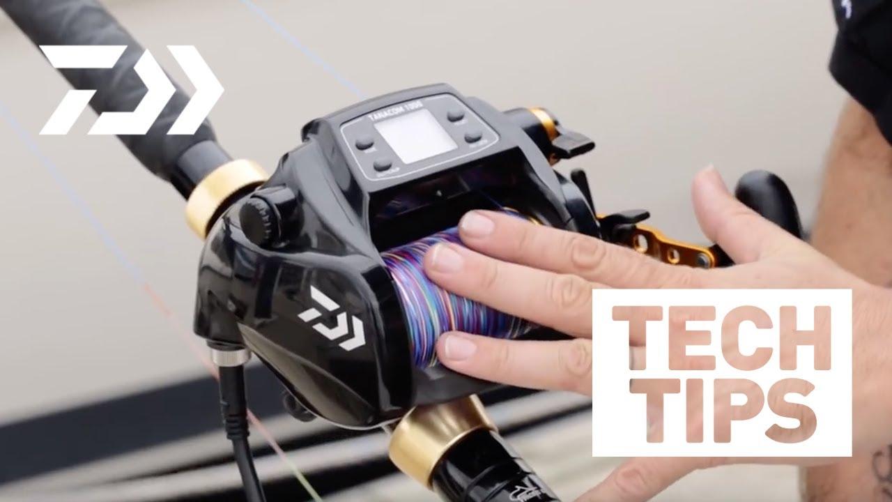 ffd378fe899 Daiwa Electric Reels - Spooling Up Part 2 - YouTube