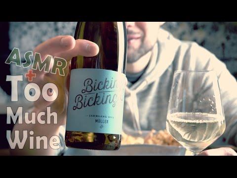 NASI GORENG ASMR Eating Sounds with great White Wine