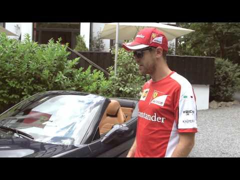 F1 世界冠軍 Vettel 邂逅 Ferrari California T