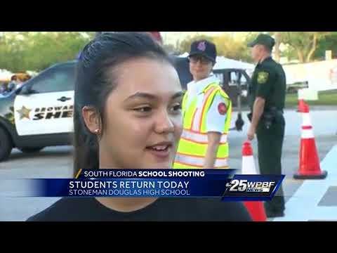 Solemn morning at Marjory Stoneman Douglas High School