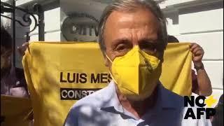 Luis Mesina, Protesta en Consejo Nacional de TV